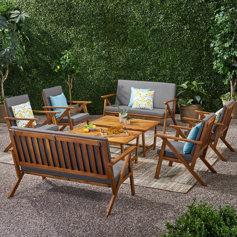 Wayan Outdoor Teak Wood Set / 8 People.