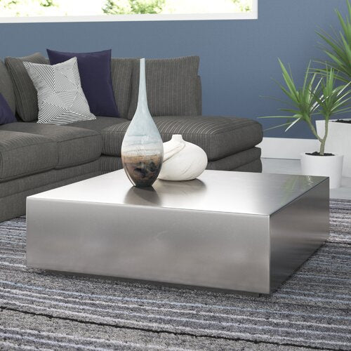 Fontana Coffee Table Set / 2 Pieces Chrome Plated.