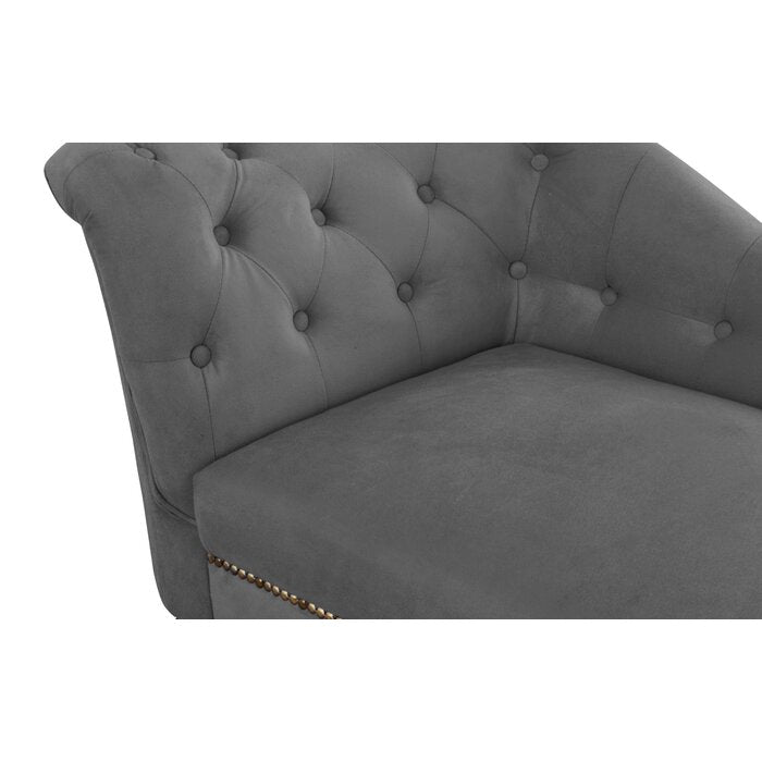 Guna Tufted Right-Arm Recessed Chaise Lounge / 66 x 154 CM