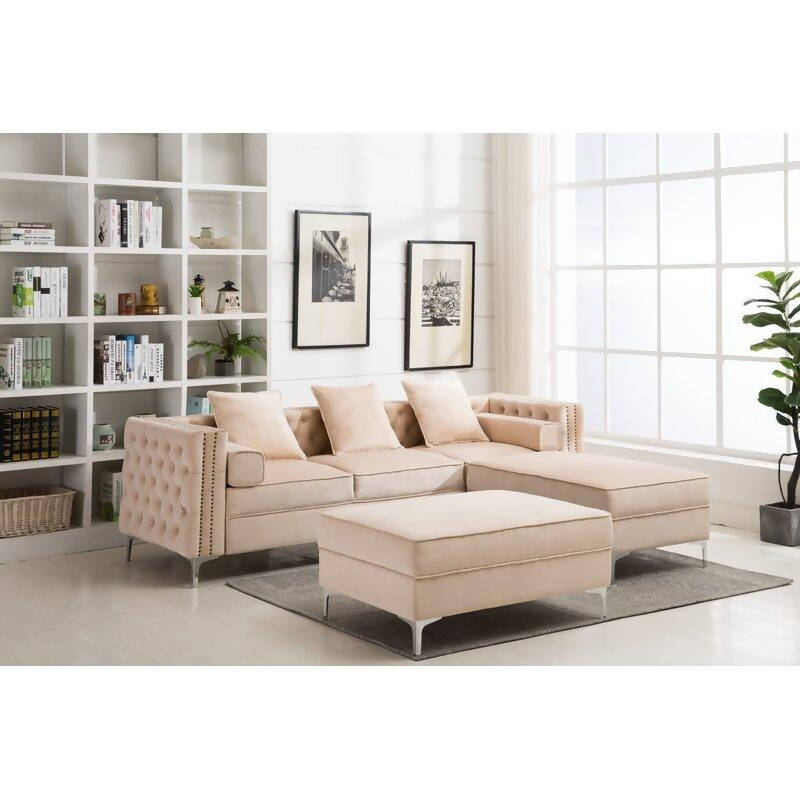 Araa Design / 265 CM 3S. Sofa (With Ottoman)