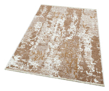 Load image into Gallery viewer, Beige Brown Reversible Washable Lightweight Cotton Based Area Area Rug - NK02