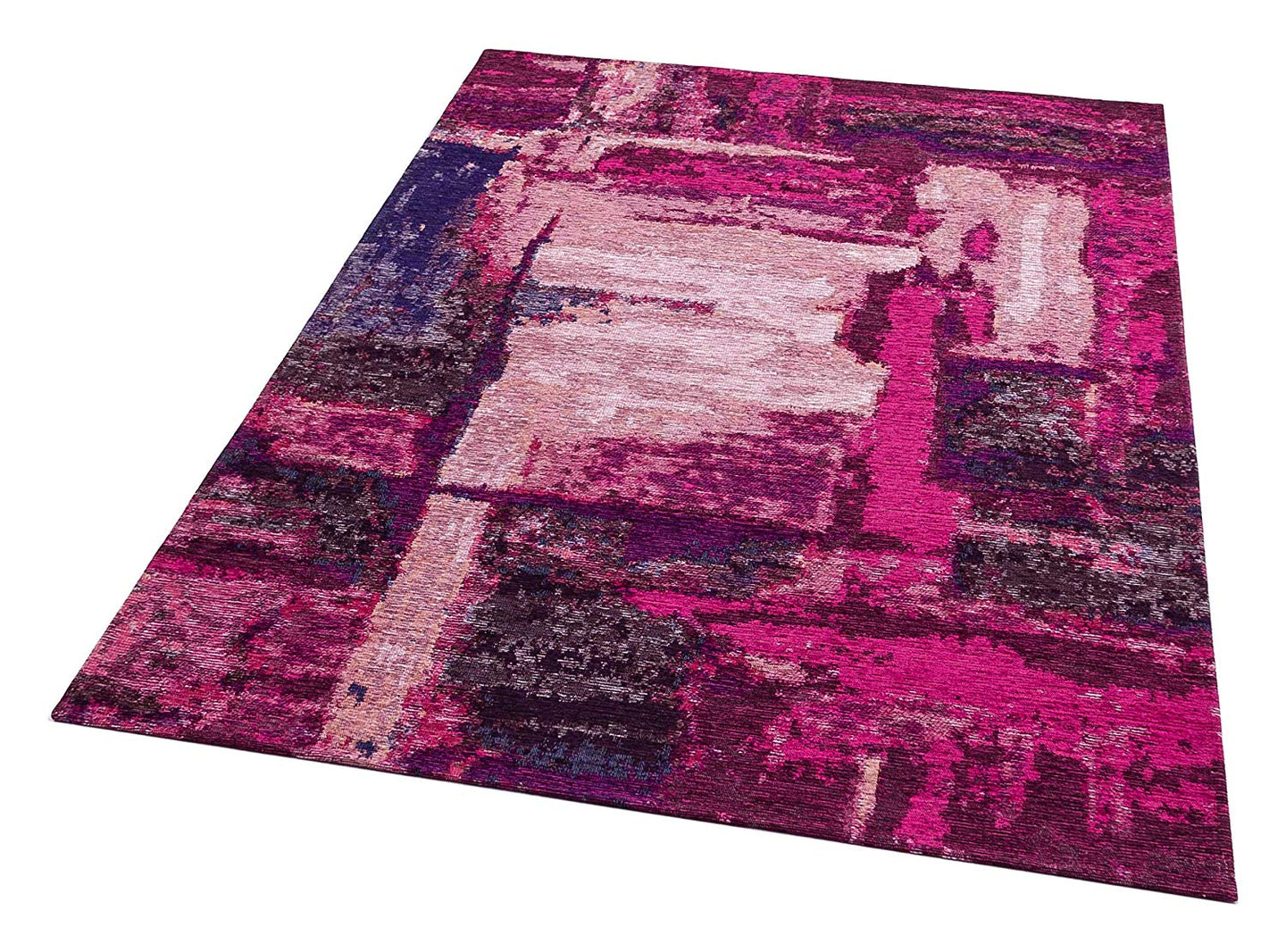 [Non Shedding Lightweight and Durable Rugs]-lilac pink red vibrant energetic abstract contemporary modern patterns unique designer superthin thin rug and carpet living room bedroom kids room kitchen entrance light pink dust free zero pile