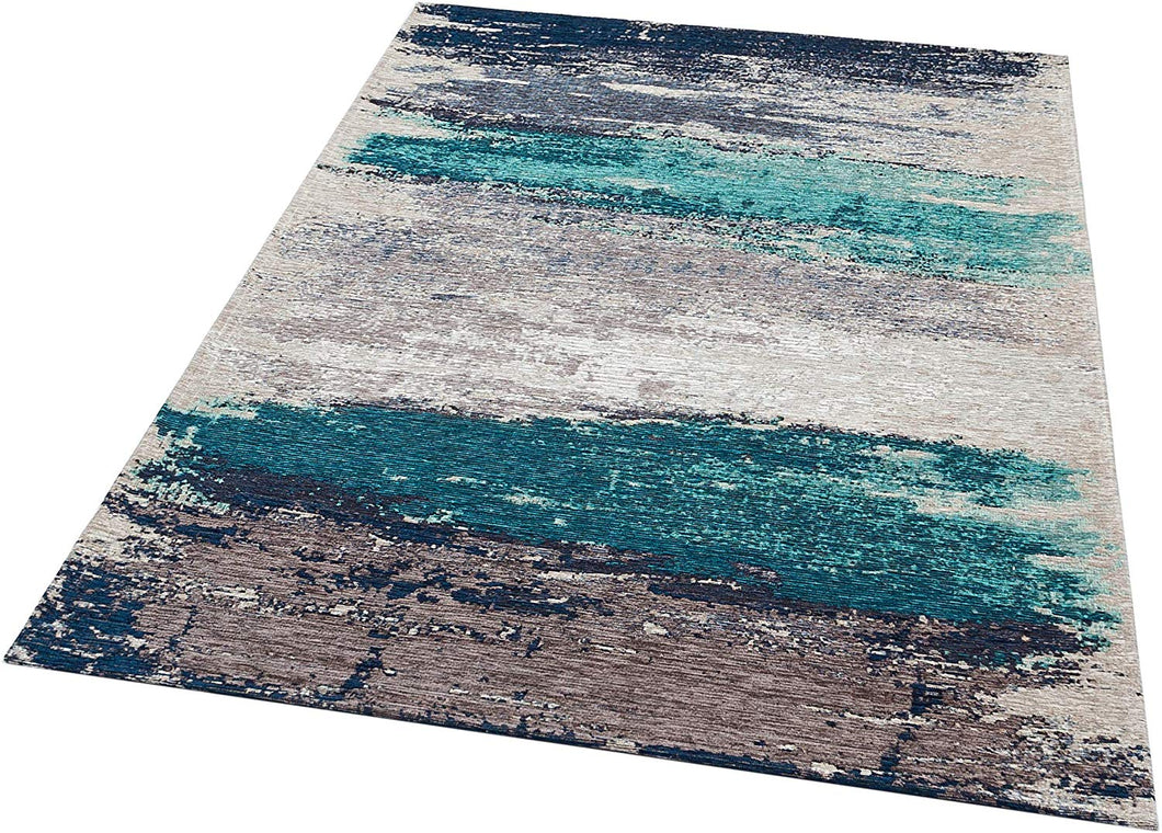 [Non Shedding Lightweight and Durable Rugs]-abstract contemporary minimal rectangular area rug grey black silver white aqua blue navy sea blue ice blue pantone 2020 soft peaceful living room kitchen bedroom kids room entrance indoor area rug thin and easy to carry