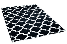 Load image into Gallery viewer, [Non Shedding Lightweight and Durable Rugs]- black white art deco geometric patterns symmetric rug and carpet washable easy to clean and carry contrast black and white living room bedroom entrance hallway kitchen