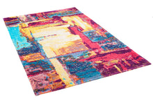 Load image into Gallery viewer, [Non Shedding Lightweight and Durable Rugs]-Colourful multicolour abstract contemporary modern unique designer rug and carpet red blue yellow vibrant colours living room bedroom kids room kitchen entrance hallway indoor energetic ambiance quality