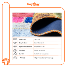 Load image into Gallery viewer, Multicolour Non Shedding Lightweight Printed Area Rug - 1503