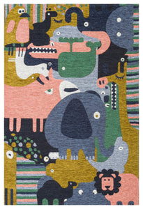 Non Shedding Lightweight and Durable Kids Area Rug - V02 Z0