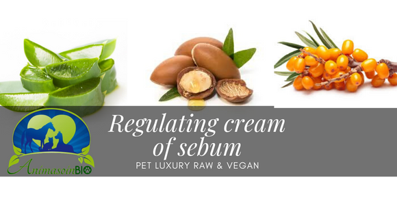 The Regulating cream of sebum ( hydrosol - Bran oil Sea Buckthorn oil - Argan oil - Aloe vera ) - AnimaBio Care