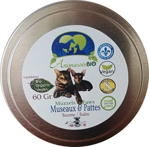 Paw Balm - Shea butter - Castor oil - Vitamin E - AnimaBio Care