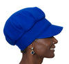 Women's Hat - Blue Wool Cap