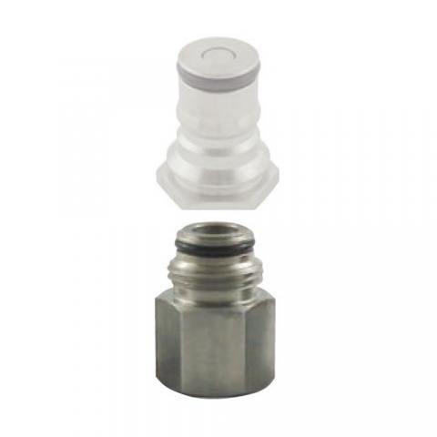 Ball Lock Adapter Gas In 1/4 FPT (Bin H6)