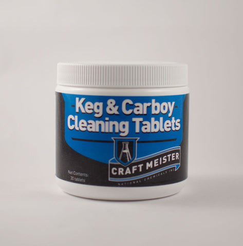 Craft Meister Keg & Carboy Cleaning Tablets 30 Ct