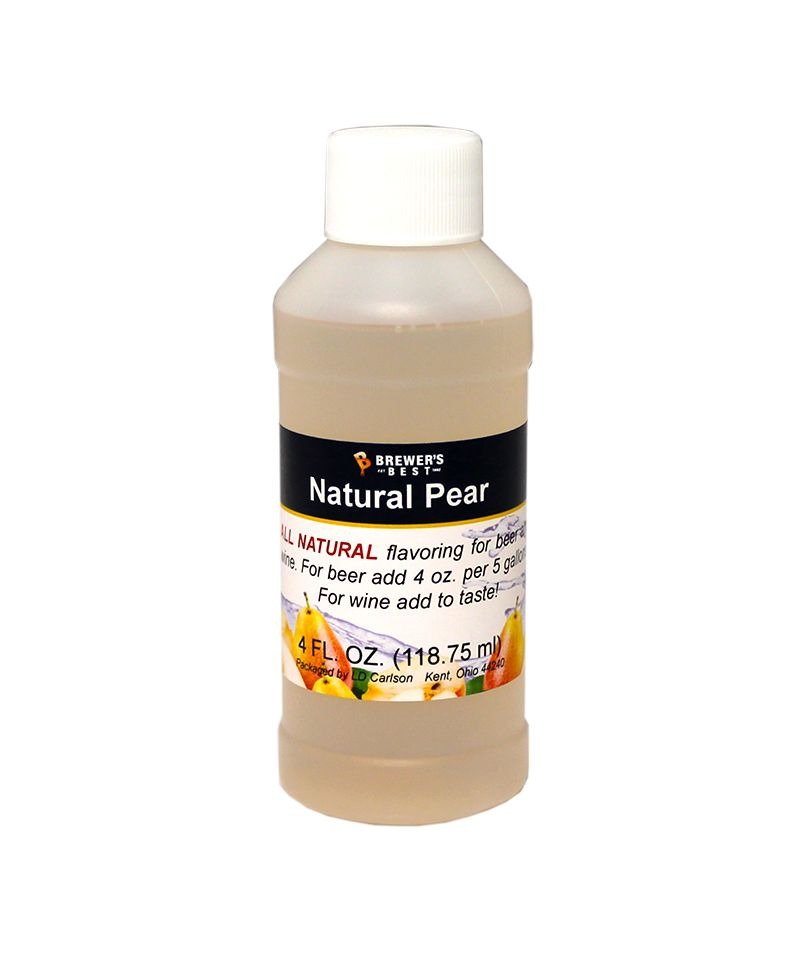 Pear Flavoring Extract 4 Oz Natural Flavors