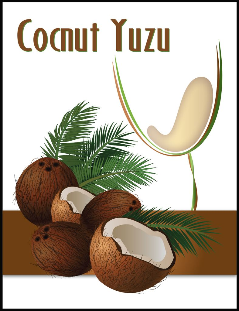 Island Mist Coconut Yuzu Mist Wine Labels 30/pack