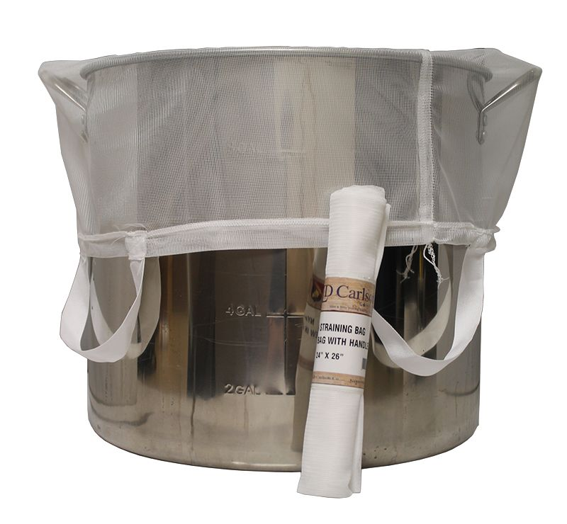 "BIAB Brew in a Bag Nylon Straining Bag w/ Handles 24"" x 26"""