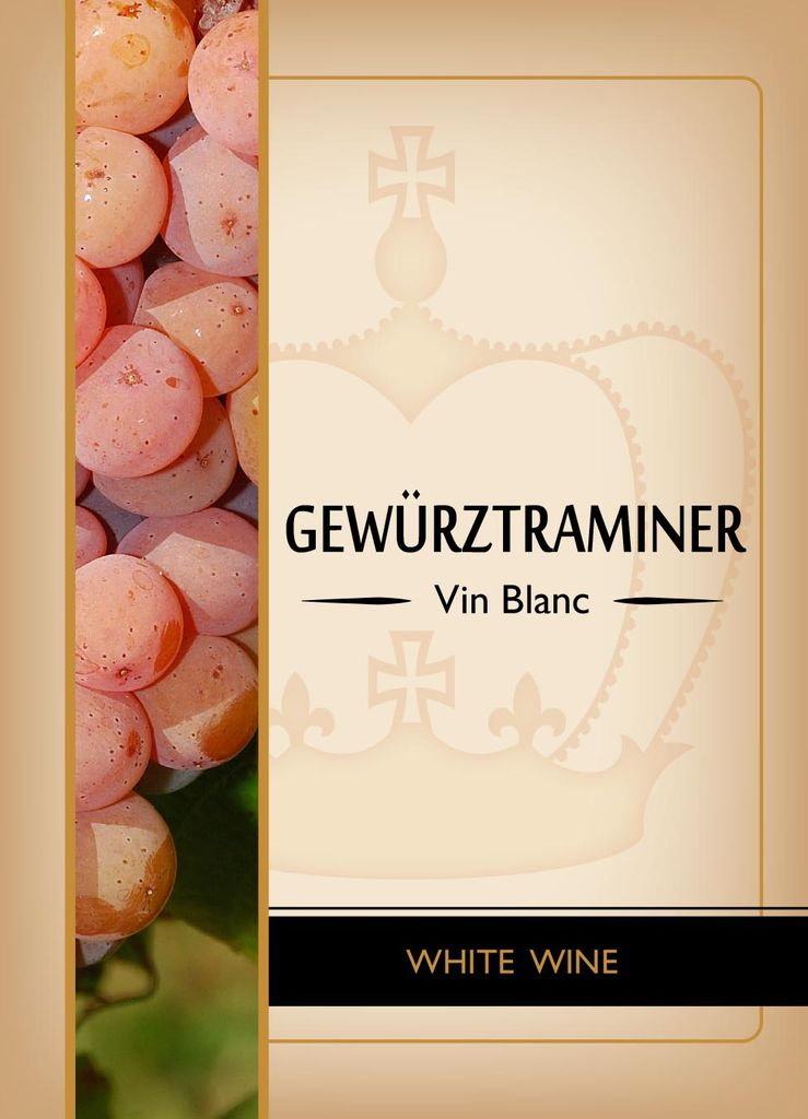 Gewurtztraminer Wine Labels 30/pack