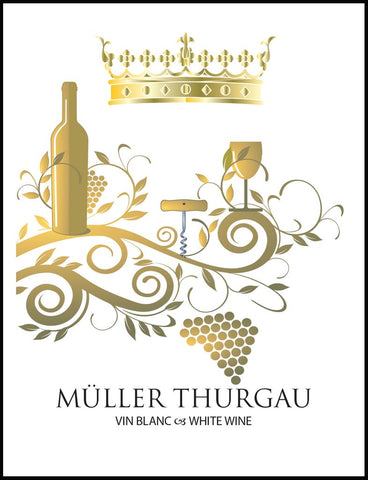Muller Thurgau Wine Labels 30/pack