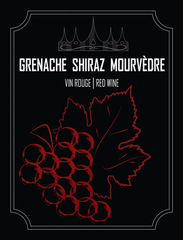 Grenache Shiraz Mourvedre Wine Labels 30/pack