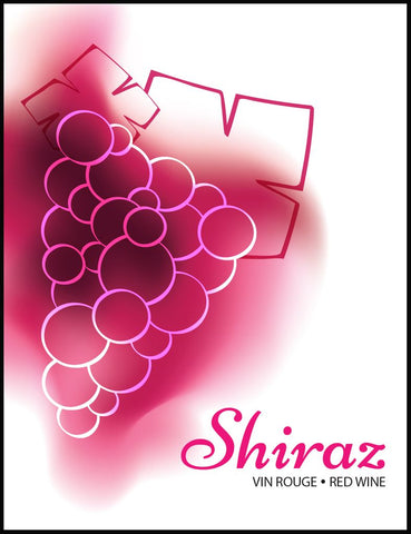 Shiraz Wine Labels 30/pack