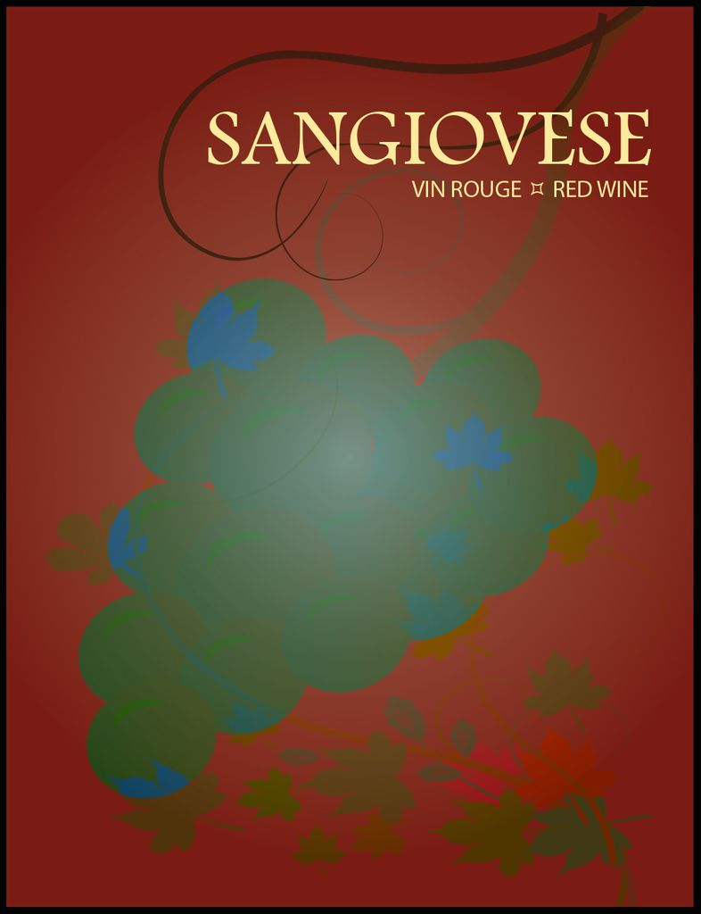 Sangiovese Wine Labels 30/pack