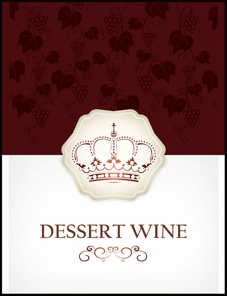 Dessert Wine Labels 30/pack