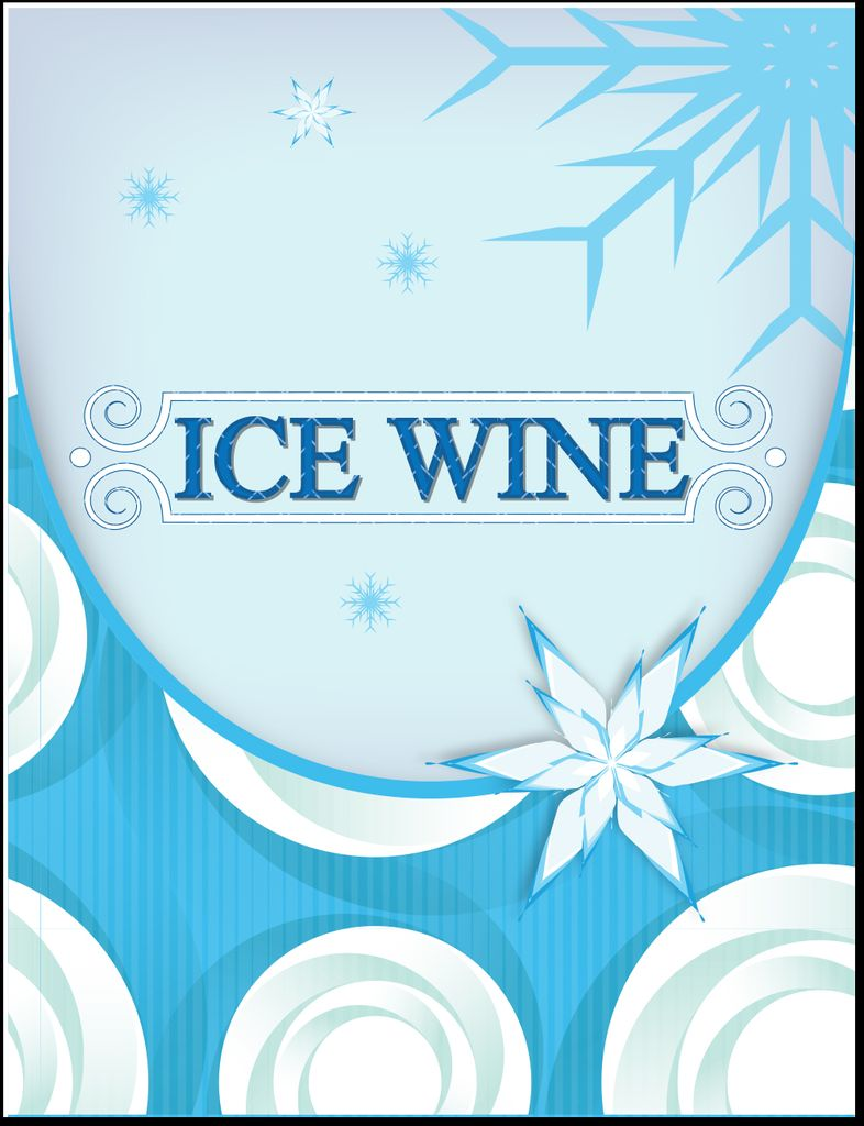 Ice Wine Style Wine Labels 30/pack