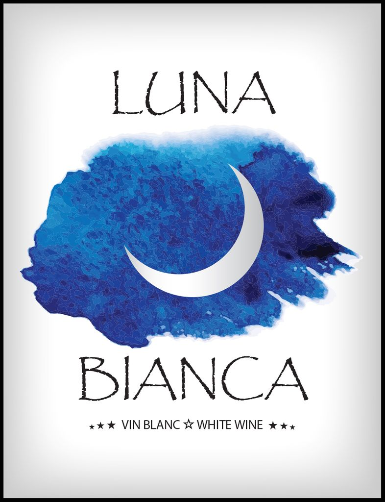 Luna Bianca Wine Labels 30/pack
