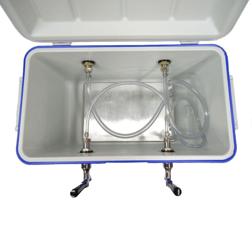 Jockey Box 2 Faucet w/ Cold Plate