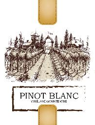 Pinot Blanc Wine Labels 30/pack