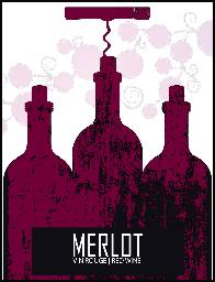 Merlot Wine Labels 30/pack