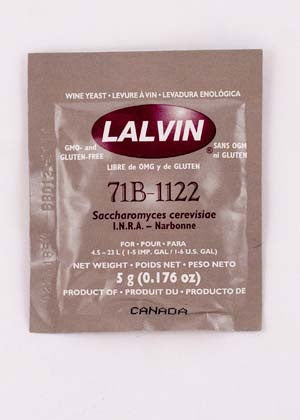 71B-1122 Lalvin Active Freeze Dried Wine Yeast
