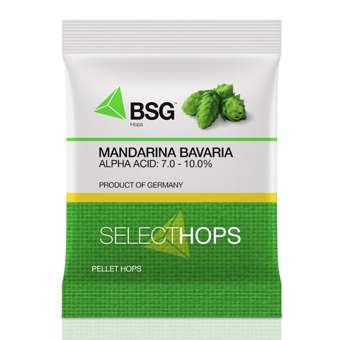 German Mandarina Bavaria Hop Pellets 1 Oz