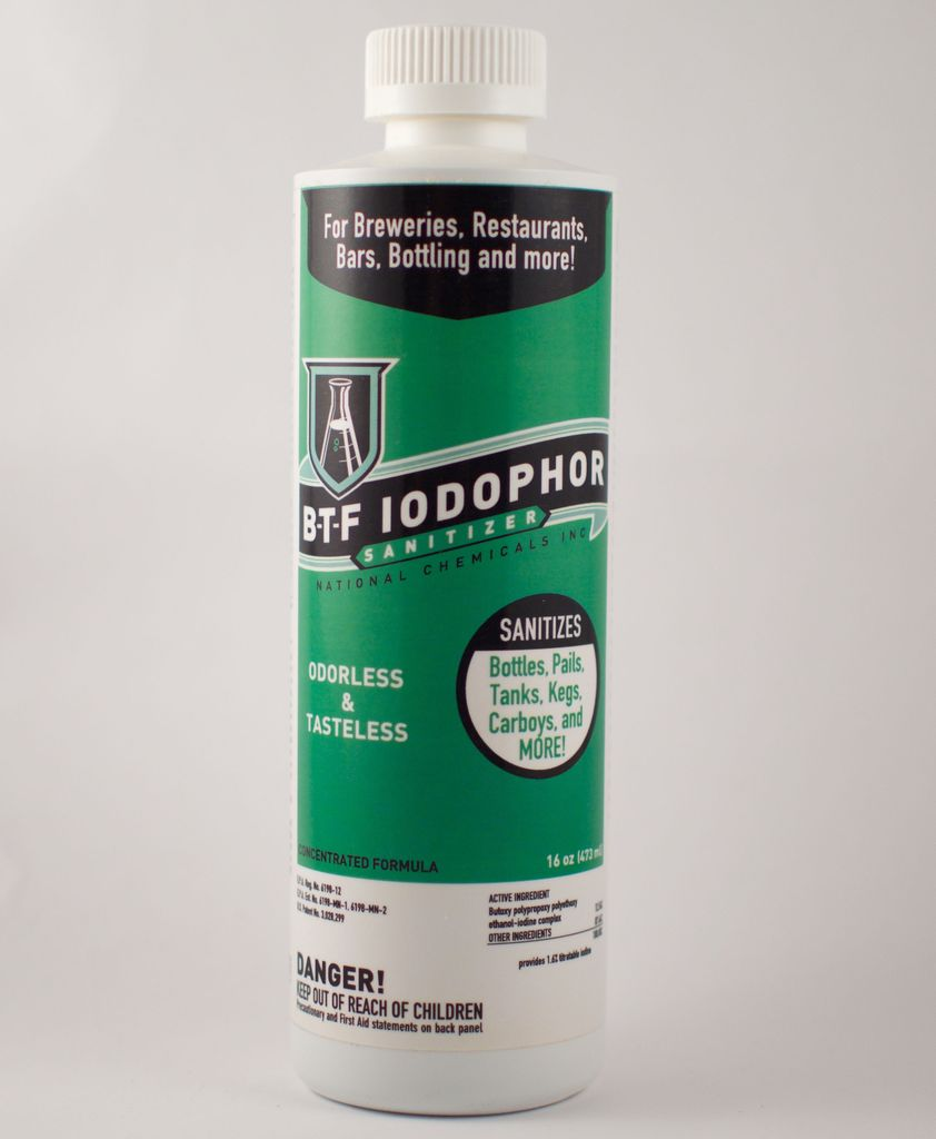 16 Oz Iodophor BTF Sanitizer