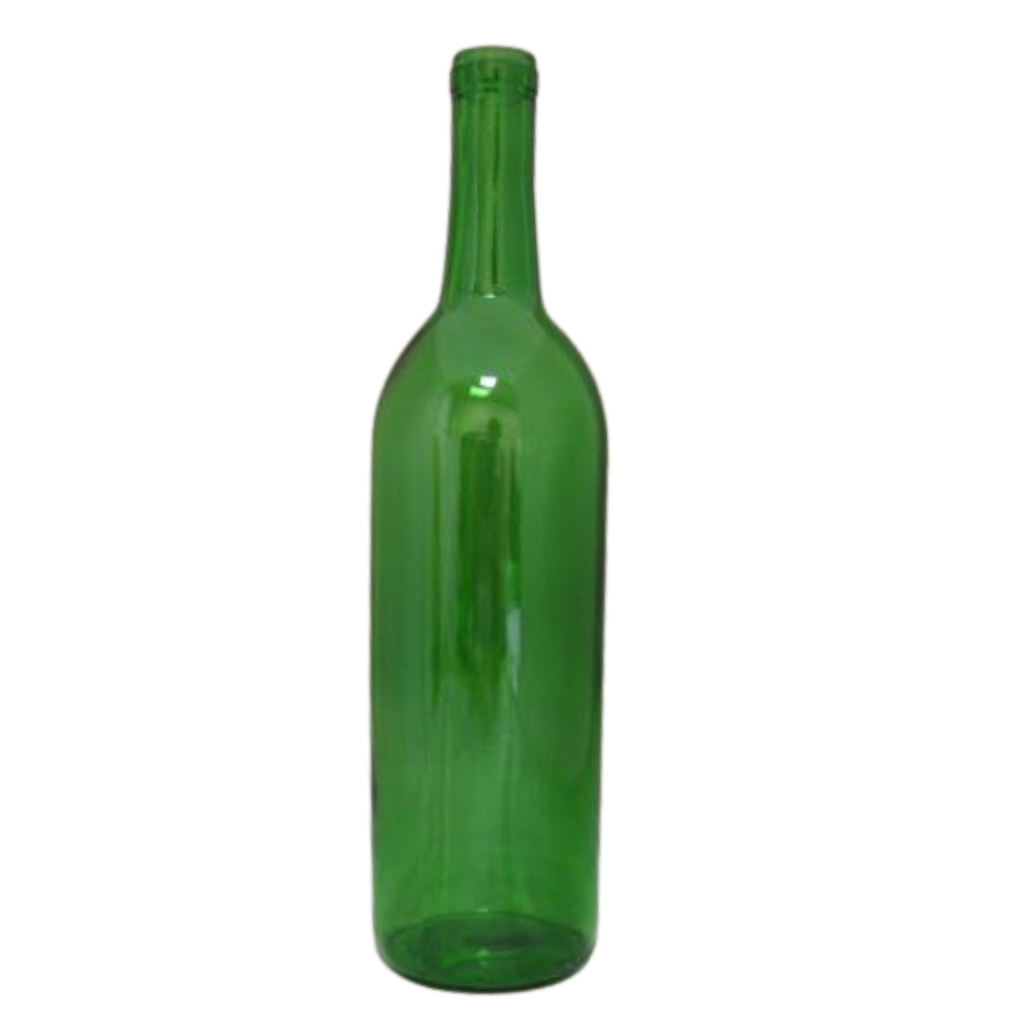 750 mL Green Optima Bordeaux Flat Bottom (12/case)