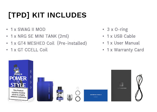 Vaporesso Swag II 80W TC Box starter kit