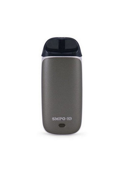 SMPO OS AIO lit with Refillable pods-Metallic Grey-VanguardSmoke
