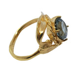Gilia - Gold Tourmaline, Promise , Engagement Ring