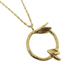 Sunflower - Initial Gold Necklace