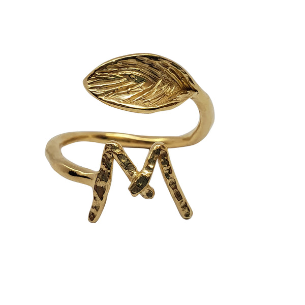 Tulip -  Personalized Gold Ring