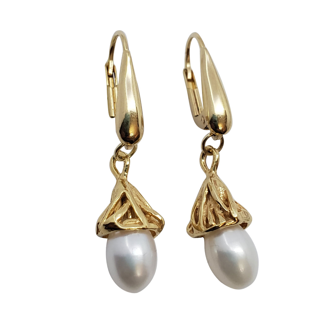 Hyacinth - Pearls Earrings