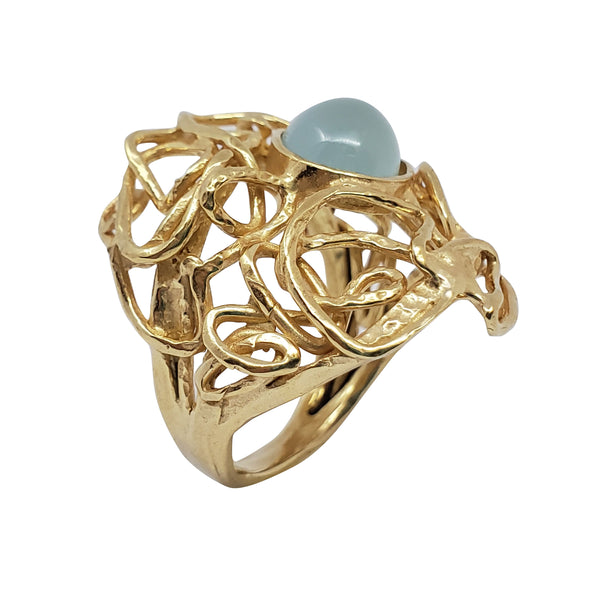 Haridra - Aquamarine Ring