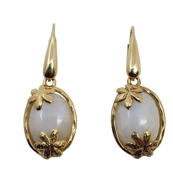 Mallow - Moonstone Earrings