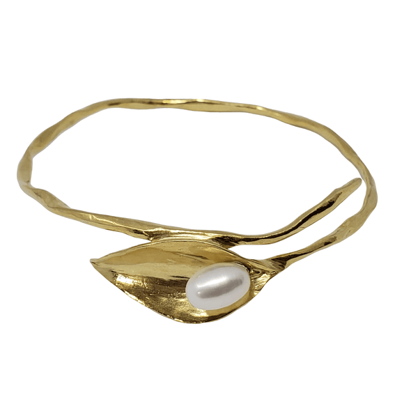 Plmetto - Leaf Pearl Bangle