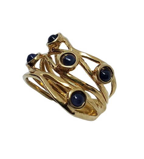 Cypress - Sapphire Multisone ring