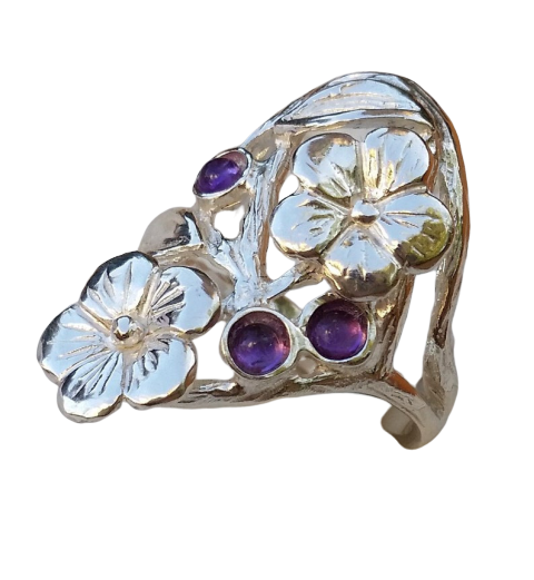 Worthleberry - Flowers Silver Ring