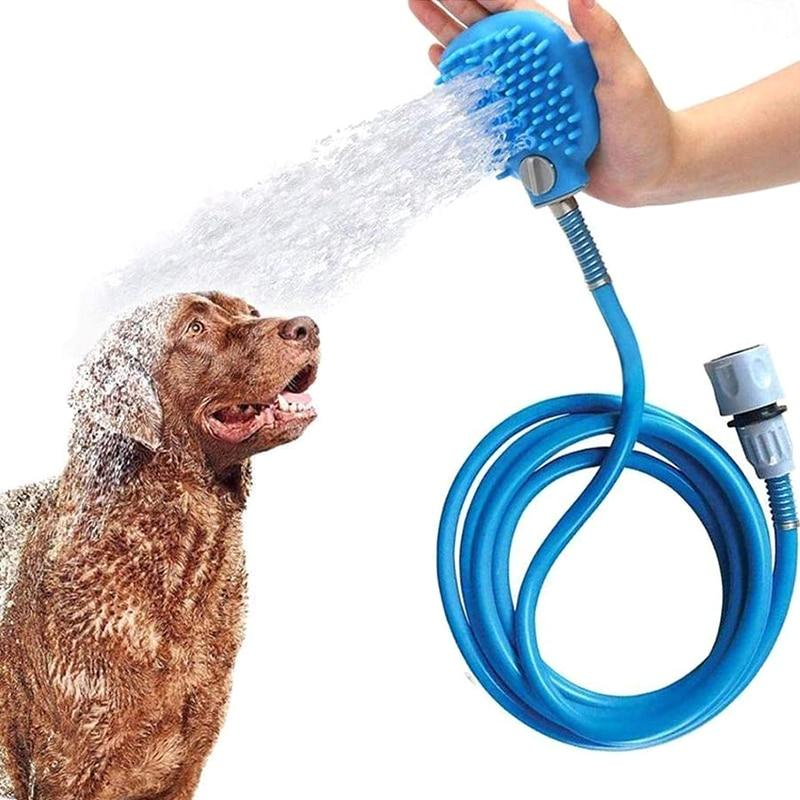 2 in 1 Pet Shower Sprayer and Scrubber - 1StopShop