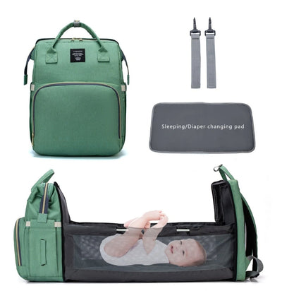 Diaper Backpack With Changing Bed - 1StopShop
