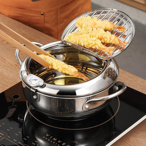 Japanese Steel Tempura Deep Frying Pot - 1StopShop