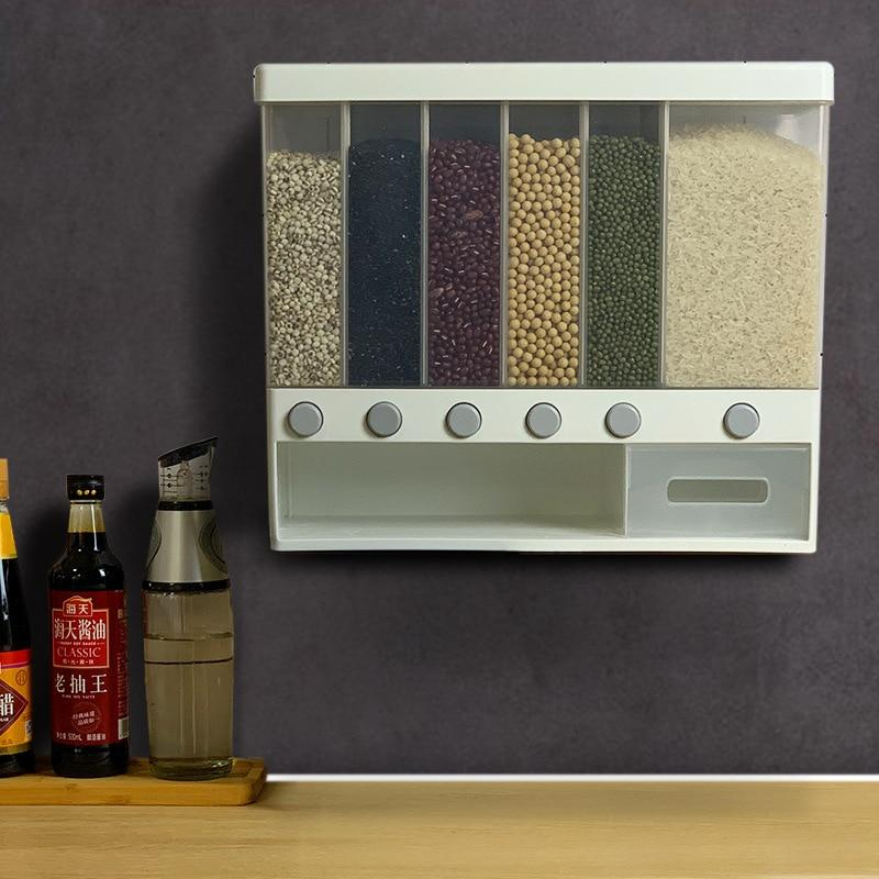Wall Mounted Divided Rice and Cereal Dispenser - 1StopShop