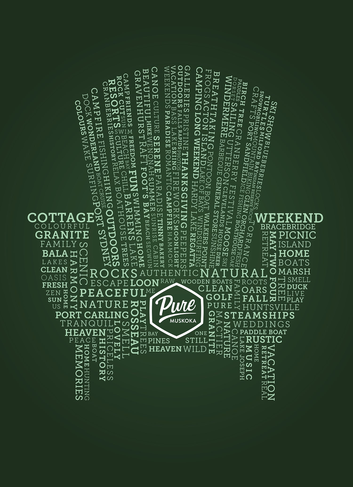 Pure Muskoka Word Art Poster